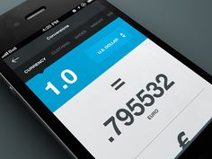 Flat Ui Design iphone App Conversion / Currency