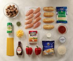 1 Bag, 5 Dinner Ideas — Get a week's worth of dinners in one grocery trip — check out these five chicken and beef dinners. Kraft recipes are easily modified with other brands - great alternative to fast food and poor planning. Kraft Foods, Kraft Recipes, I Love Food, Good Food, Yummy Food, Freezer Cooking, Cooking Time, Freezer Meals, Healthy Cooking