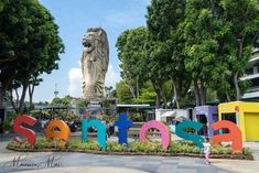 Saying Good-Bye to the Sentosa Merlion, Maureen Mai Photography Fishing Villages, Stand Tall, Old Friends, Mount Rushmore, Singapore, Mountains, Sayings, World, City