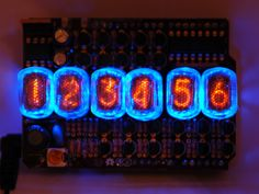 Open Source Nixie Tube Shield by Tyler Nehowig — Kickstarter.  Limited first run Arduino shield compatible six-digit clock using rare and eclectic IN-17 Nixie Tubes.