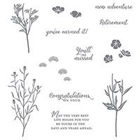 Wild about Flowers Photopolymer Stamp Set  by Stampin' Up! $21.00