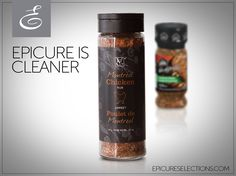 """We're crazy for chicken! Epicure's Montreal Chicken Rub keeps it clean with NO artificial or natural colours, or mysterious """"flavour enhancers"""" found in other rubs. Fast Healthy Meals, Healthy Recipes, Epicure Recipes, Chicken Rub, Steak Rubs, Great Recipes, Favorite Recipes, Food Dye"""