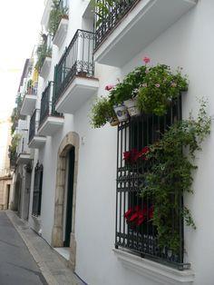 Sitges, Barcelona, Catalunya Sitges, Barcelona Spain, Facades, Property For Sale, Real Estate, City, Plant Pots, Real Estates, Cities