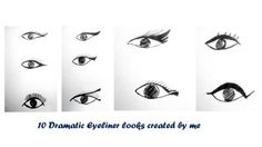 I love to create different makeup lookss in my diary just like these eyeliner looks.It makes me happy.What makes u?