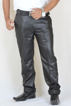 Buy Black color Party Wear Cotton Trouser For Men Online in India