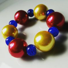 Hey, I found this really awesome Etsy listing at https://www.etsy.com/listing/261068539/snow-white-chunky-bracelet-bubble-gum