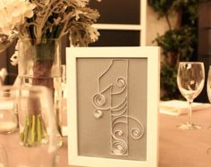 Table Numbers - Quilled