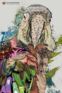 """J'ai donc quitté les Girafes et me suis enfoncée dans le zoo. Un perroquet étrange s'est posé sur mon bras.  - """"Ho l'oiseau, vous avez perdu vos couleurs ?"""", lui dis-je.  """"Ha, soyez polie, Mademoiselle, on dit Bonjour, et mes couleurs sont mon choix. Car je suis un Ara-tiste, et j'ai renié mes plumes naturelles pour ces vêtements de ma création. D'ailleurs, près du lac, on tente de me copier"""", me répond-il avant de s'envoler.  """"Me voila bien avancée"""", pensé-je en reprenant ma marche."""