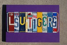 License Plate Sign  LSU TIGERS by plateworks on Etsy, $54.00