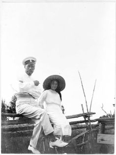 Tsar Nicholas II and Grand Duchess Anastasia