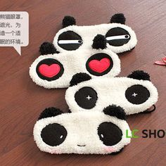 Buy 'Lazy Corner – Fleece Panda Eyeshade' with Free International Shipping at YesStyle.com. Browse and shop for thousands of Asian fashion items from China and more!