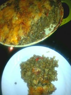 """Brown Rice and Lentil Casserole...just made this for dinner.  It is not pretty to look at but has a great flavor.  Everyone liked it or as one child said, """"This isn't disgusting.""""  For our family of 6 I will need to double it in the future.  I think you could also add greens and other veggies.  Nourishing, cheap, tasty.  Repeat!"""