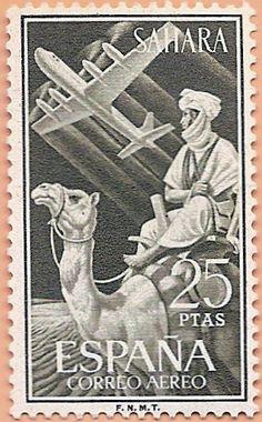 Sáhara Español, Correo Aéreo 1960 - Portal Fuenterrebollo