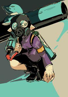 Tags: Fanart, Twitter, Pixiv Id 366396, Splatoon, Splatoon (Manga), Mask (Splatoon)