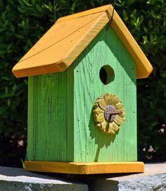 Rustic birdhouse  Cottage birdhouse  Sunflower by ruraloriginals, $24.95