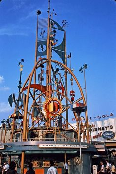 "Tower of the Four Winds at the 1964 New York Worlds Fair. This was part of the Disney ""It's a Small World"" attraction which had its premiere at the World's Fair before moving to Disneyland"