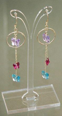 Butterfly Earrings Butterfly Jewelry Swarovski by KwaiJewellery, $29.95