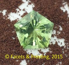 Peridot, 1.53 cts, 7.7x7.9mm pentagon shape. <AVAILABLE> on website