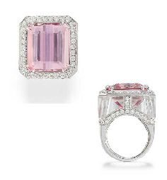 A KUNZITE, ROCK CRYSTAL AND DIAMOND RING, BY MARGHERITA BURGENER | Jewelry Auction | Christie's
