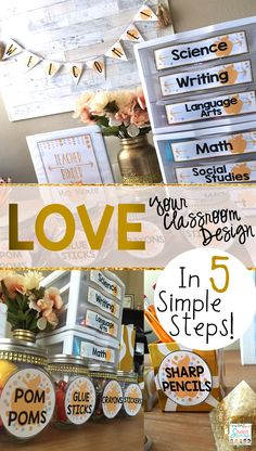 Classroom Decor Ideas and Designs for teachers! I loved reading these simple…