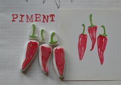 Chili Pepper Stamp