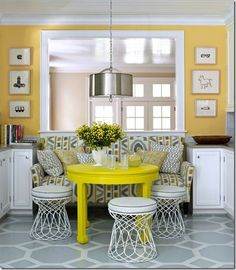 <3 the yellow table