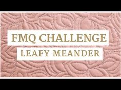 The leafy meander is a pointy, curvy machine quilting design perfect for filling in the areas between quilt blocks. Join us for Week 4 of the Free-motion Challenge Quilting Along as we learn how to easily maneuver around an area with the leafy meander as well as how to create a stunning effect with the leaves.