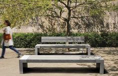 Public bench / contemporary / steel / recycled plastic MUSEO by Sovann Kim Plas Eco