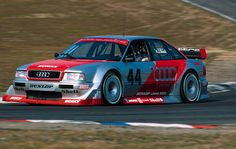 Hans-Joachim Stuck testing the 1993 DTM Audi 80 prototype - source: hakkalocken/tumblr