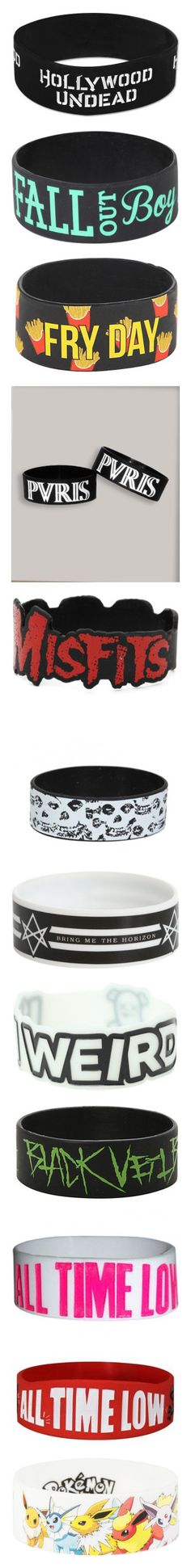 """""""Band Braclets 2"""" by chemicalfallout249 ❤ liked on Polyvore featuring jewelry, bracelets, accessories, rubber bracelets, rubber bangles, logo jewelry, rubber jewelry, band merch, green bangles and anchor jewellery"""