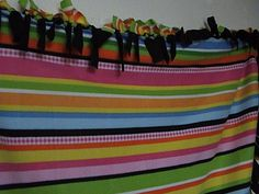 Bright Multicolor Fleece Blanket Throw by TerrysCreatives on Etsy, $35.00