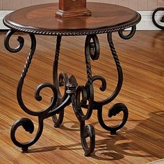 Genial Tuscan End Table Scroll Designed Metal Base Faux Leather Top Studded  Accents | Home | Pinterest | Scroll Design