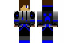 minecraft skin cool-blue-boy