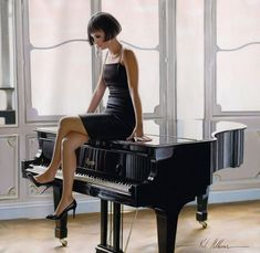 Chic realistic paintings by exceptionally talented figurative artist Rob Hefferan