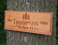 Personalized Cabin Signs Rustic Family by BenchMarkCustomSigns
