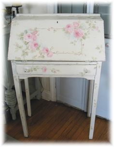 Debi Coules Shabby French Chic Art Shabby Chic Cottage, Vintage Shabby Chic, Shabby Chic Homes, Vintage Roses, Estilo Shabby Chic, Shabby Chic Style, Shabby Chic Decor, Shabby Chic Furniture, Upcycled Furniture