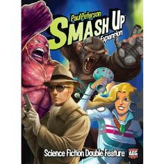 Smash Up Science Fiction Double Feature Smash Up is back with even more wild factions in the mix! Science Fiction Double Feature brings four new decks to the base-smashing business with abilities unlike those seen before! Time Travelers all http://www.MightGet.com/march-2017-2/smash-up-science-fiction-double-feature.asp