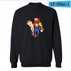 Super Mario Run Hoodies 4XL Hoodies Women Hip Hop in Streetwear Style and for Autumn Winter cotton Warm Sweatshirts