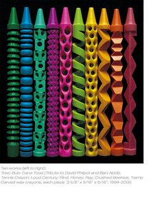 Geometric Crayon Sculptures