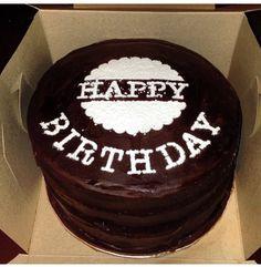 Birthday cake chocolate ganache