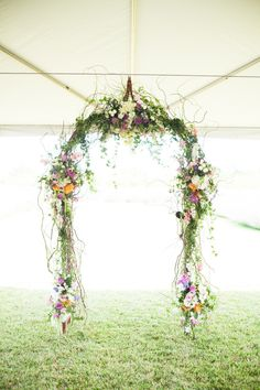 Beautiful floral chandelier arch