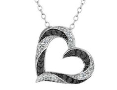 White and Black Diamond Heart Pendant Necklace 1/4 Carat (ctw) in Sterling Silver with Chain MyJewelryBox, http://www.amazon.com/dp/B004D0PZM6/ref=cm_sw_r_pi_dp_iLfjrb0A6V4B7