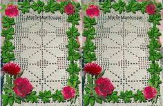 Crochetando com Maria Mantovani: Jogo de quarto no barbante cru _nº 6