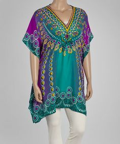 Another great find on #zulily! Sea Green & Purple Jewelry Tunic - Plus #zulilyfinds $12.99