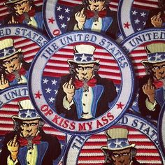 @souvenirpatch original design. Exclusively at SouvenirPatch.com or click the shop link in their bio and see the 100s of patches available in their store today. . #unclesam #merica #kissmyass #moralepatches #patches #patchwhore #bikerpatches #velcropatches #embroideredpatch #irononpatches #patch #patriotic #humor #usa #airsoft #tacticool #militarypatches #patchgame #