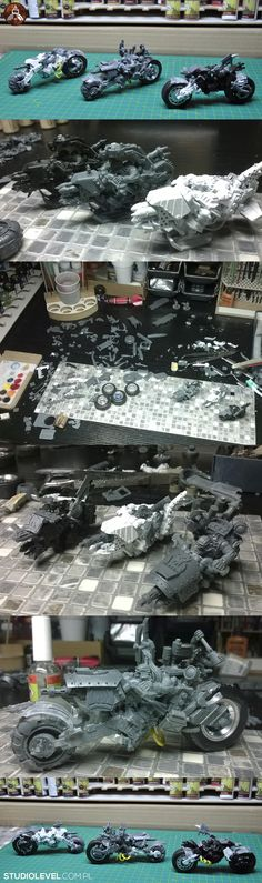 Deff Orks Warbikers Terzetto, Backstage Conversion by StudioLevel [2015]