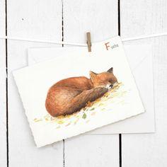 ABC Tierkarte Die ABC Postkarte ist der kleine Bruder von unserem ABC Poster. Viele verschiedene Tiere geben dem Alphabet ein Gesicht. Die Postkarte kann man toll als Einladungskarte für die Einschulung oder zum Kindergeburtstag, als Glückwunschkarte oder als Grußkarte verwenden. Mit viel Aufwand und viel Liebe wurde jedes Tier mit Aquarellfarben auf Papier gebracht. Die Karte in Büttenoptik wird mit passendem Umschlag und schützender Klarsichthülle verschickt.     Kartenformat: C6 mit 4…
