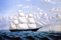 Clipper Ship 'Northern Light' of Boston, Oil On Canvas by William Bradford (1590-1657, United Kingdom)