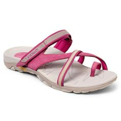 b55e0af4bfd5 Vionic with Orthaheel Technology Silver   Berry Mojave Leather Sandal -  Women