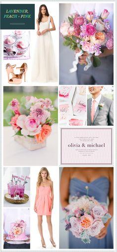Lavender, Peach + Pink Wedding Inspiration